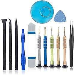 Kit de iPhone Tournevis Outils Ouverture Démontage Réparation pour iPhone XR X / 8/8 Plus / 7/7 Plus / 6S / 6S Plus / 6/6 Plus / 5 / 5S / 5c / 4 / 4S / SE