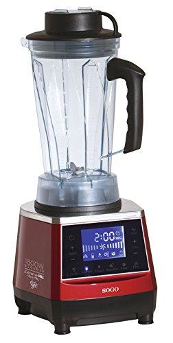Batidora Digital de uso Profesional y alta potencia (1.800W), jarra de 2 Litros de Tritan sin BPA, Multifunción, hoja de acero Inox de larga vida, Embrague Fuerte, Interruptor de seguridad