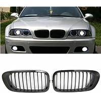 [Spedizione gratuita 7~12 giorni] cromo rene nero griglia anteriore griglia per bmw e46 Serie 3 // Chrome Black Kidney Front Grille Grill For BMW E46 3 Series