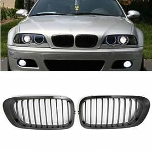 [Envoi GRATUIT 7~12 jours] chrome noir rein calandre Grill pour BMW E46 3 serie // Chrome Black Kidney Front Grille Grill For BMW E46 3 Series