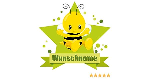Samunshi Süße Biene Aufkleber Mit Namen Autoaufkleber Namensaufkleber Kinder In 7 Größen 50x44cm Mehrfarbig Küche Haushalt