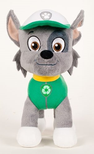 """PAW PATROL - ROCKY IS A MIX-BREED PUP, EXPERT IN RECYCLING PLUSH TOY (28CM - 11'02"""") GOOD QUALITY - COLOUR GREEN -"""