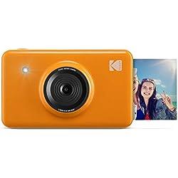 Kodak Mini Shot - Appareil Photo Numérique et Imprimante sans Fil, 5 x 7,6 cm, Technologie d'Impression Brevetée 4Pass, Jaune