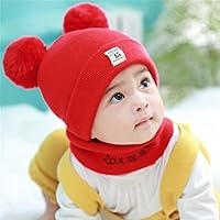ETMAAA Herbst und Winter Baby Hut Kragen Anzug Baby Strickmütze Kinder Wollmütze