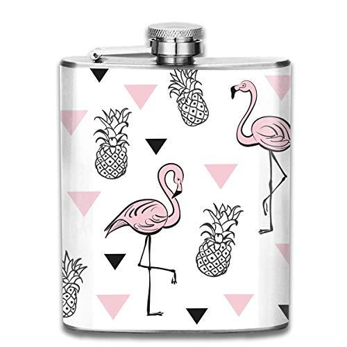 Ananas und rosa Flamingos Muster Premium 304 Edelstahl Flachmann benutzerdefinierte Flasche großes Geschenk, 7 Oz