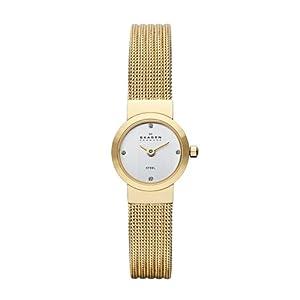 Skagen SKW2009 - Reloj analógico de cuarzo para mujer, correa de acero inoxidable color dorado de Skagen