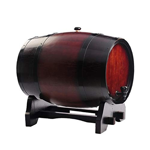 QRFDIAN Barrera de Madera/barriles de Roble 3L-50L / Brandy de elaboración Propia/Whisky/Cerveza, dispensador de Vino Tinto (sin Cola, sin Cera, sin Forro, Barril de Roble, Barril) Vino Blanco v