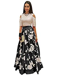 Elexsis Fashion Lehenga Choli Banglorey Silk Febric With Semi-Stitched Blouse Piece.