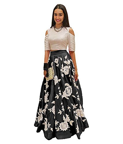gowns for women party wear (lehenga choli for wedding function salwar suits for women gowns for girls party wear 18 years latest sarees collection 2017 new design dress for girls designer sarees new collection today low price new gown for girls party wear) (black)  available at amazon for Rs.299