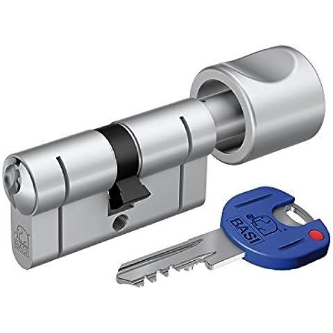 BASI P 5030-0000 K30/30 mm, profilo a cilindro europeo con pomello, nichel, Argento, (5030 Pomello)