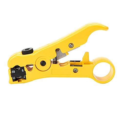 Universal Network Cable Stripper Cutter Abisolierzange Werkzeug Flach oder Rund UTP Cat5 Cat6 Wire Coax Koaxial Abisolierwerkzeug -