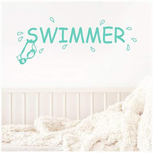 Wand Sprüche Vinyl Schriftzug Schwimmer Vinyl Wand Aufkleber Aufkleber 12.5