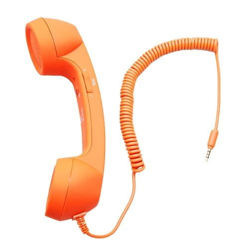 Anti-radiation Retro Style Handset COCO Phone with HD speaker and microphone [ Orange ] -- ByBox™