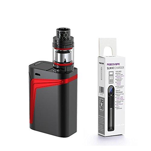 Authentique SMOK V FIN Kit 160W 8000 mAh TFV12 Big Baby Prince 2mL Tank (Noir/Rouge) Cigarette électronique avec PEACEVAPE TM 18650 Chargeur mince à 1 fente
