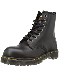 Dr. Marten's Unisex Black Leather Safety 7B10 Boots