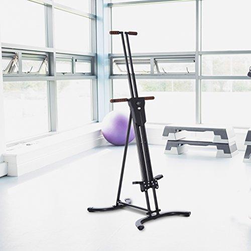 Máquina de Fitness Escaladora Vertical Ejercicio Deporte Entrenamiento Pantalla LCD