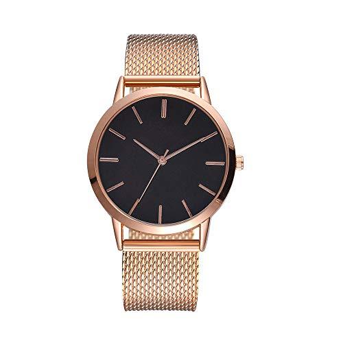 XZDCDJ Damen Uhr Armbanduhr Bracelet Jungen Uhr Beiläufige Quarz Silikonbügel Band Uhr der Frauen analoge ArmbanduhrRoseGold659