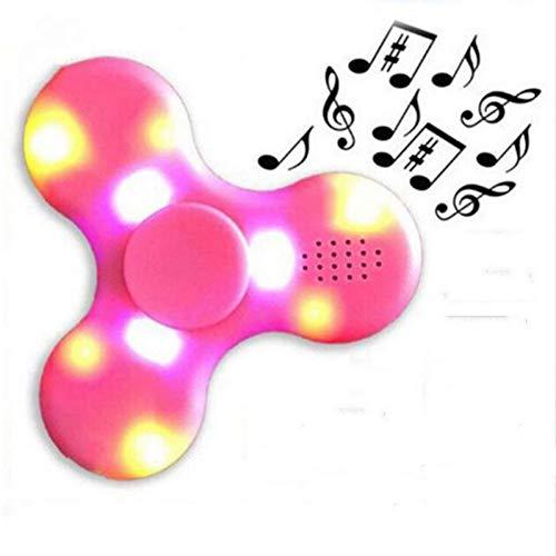 Interruptor de luz LED Altavoz Bluetooth Música SpinnerAltavoz de Juguete Divertido