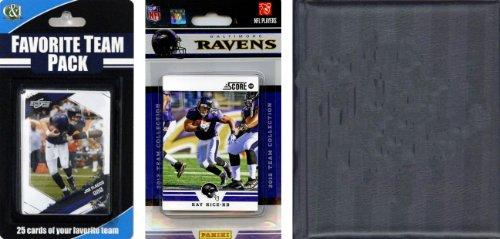 C & I Collectables NFL Baltimore Ravens Licensed 2012 Score Team Set and Favorite Player Trading Card Pack Plus Storage Album