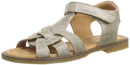 Bisgaard Sandals, Sandales  Bout ouvert fille Argent (07 Glitter Silver)