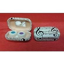 Caja para lentillas diseño clave de sol notas musicales.