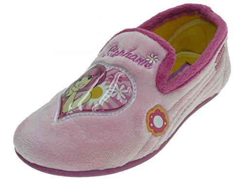 Crianças Chinelos Confortáveis Com Beppi Forro Quentes Rosa Chinelos No Azul Rosa E qR76qrS