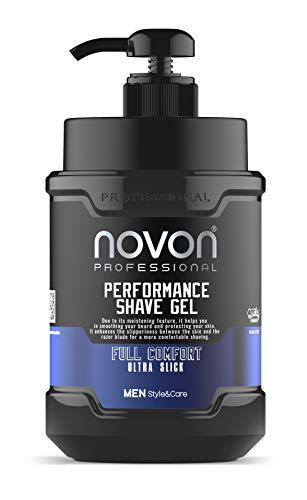 Novon Professional Shaving Gel - Rasiergel 1000ml - Transparentes Rasiergel ideal für Zeichnungen der Rasur