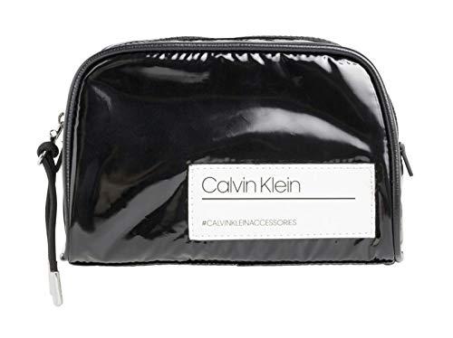 Calvin Klein Damen Bind Cosmetic Bag Clutch, Schwarz (Black) 1x1x1 cm (Kosmetiktasche Calvin Klein)