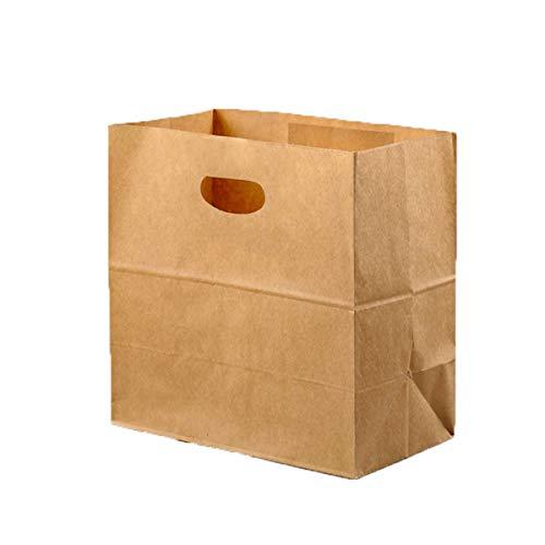 en Papiertasche mit Boden, Geschenktüten Kraftpapiertüten für Adventskalender Ostertüten Bastel Geschenke Nüsse Brottüten Brote Kuchen Geschenkbeutel ()