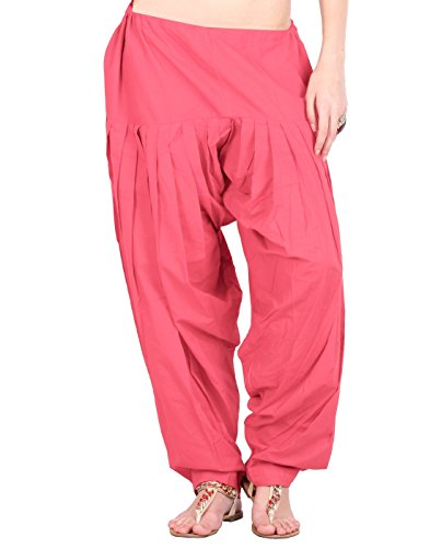 Estyle Women's Cotton Relaxed Maternity Bottom (502-98P_Raspberry_Free Size)
