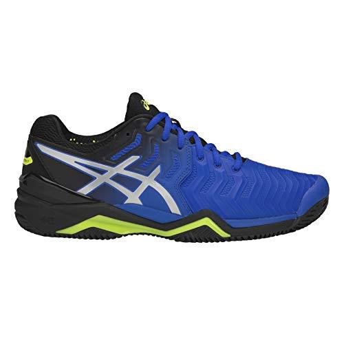 ASICS Uomini Gel-Resolution 7 Clay Scarpe da Tennis Scarpa per Terra Rossa Blu - Nero 39