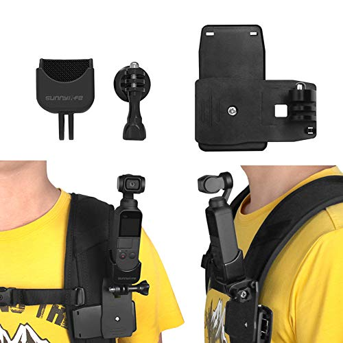 Rantow Osmo Pocket Expansion Zubehör, 1/4 Schraube Adapter Halterung + Tasche Clip Rucksack Stabilisator kompatibel mit DJI Osmo Pocket Handheld Gimbal Kamera