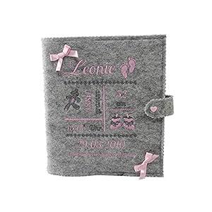 Personalisiertes Babytagebuch, Babyalbum DIN A5, Mädchen oder Buben, Geschenk zur Geburt, mit 46 Innenseiten zum Ausfüllen