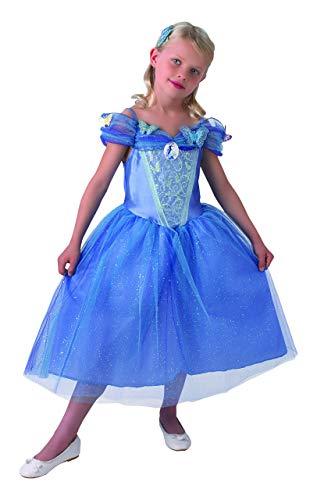 Disney Prinzessinnen Kostüm Cinderella Live Action, für Mädchen, Blau (Rubie 's 610777) Classic M blau