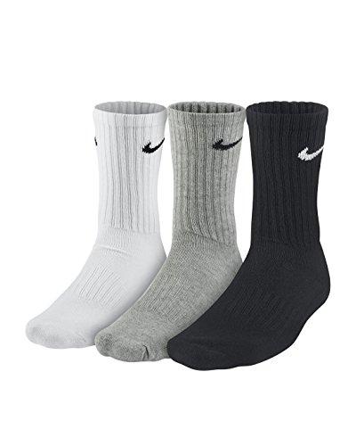 Nike 3PPK Value Cotton Crew Calze, Multicolore (Multicolore), L/ 42-46 -  Calze - Panorama Auto