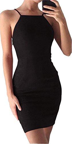 Vestido Negro, Vestido Playa Mujer Bodycon Partido De Noche, Fiesta, Boda Y Cita M