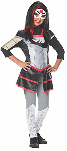 "Katana Deluxe Costume, Kids DC Super Hero Girls Outfit, Large, Age 8 - 10 years, HEIGHT 4' 8"" - 5' 0"
