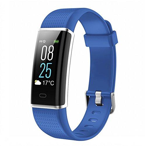 Fitness Armbanduhr, TOOBUR IP68 Wasserdicht Fitness Tracker mit Herzfrequenz Schrittzähler Schlafmonitor und Kalorienzähler, Aktivitätstracker Armband Uhr für Damen Herren und...