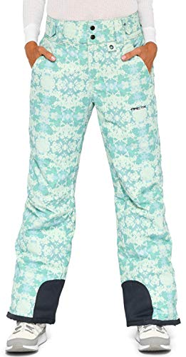 Arctix Damen Schneehose Insulated Pants, Damen, Women's Insulated Snow Pants, Summit Print Island Blue, Large Regular (Pants Insulated Snow)