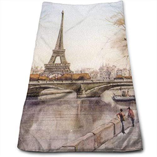 DAICHAI Eiffel Tower 1 Bath Towel Hand Towel Car Wash Towel Car Towels 3070CM -