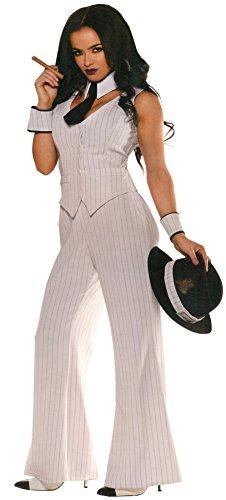 Erwachsene Mob Boss Lady Kostüm, Weiß, 28633