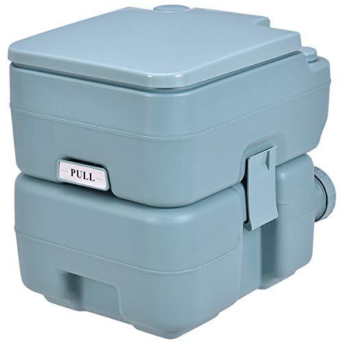 COSTWAY Campingtoilette Reisetoilette Mobile Toilette WC tragbare Outdoor Toilette für Camping Reise Klo mit abnehmbarem Abwassertank 20 L