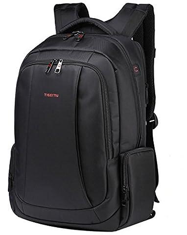 Tigernu Waterproof Laptop Backpack Resistant Anti-Theft Zip Business Laptop Rucksack-Black