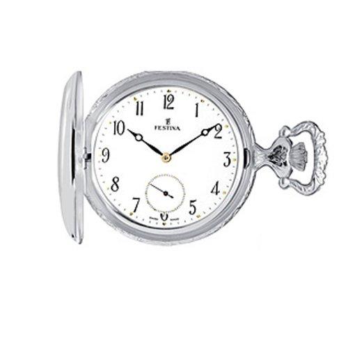 Festina Herren-Armbanduhr XL Klassik Taschenuhren Echtsilber Analog Silber F4075/1