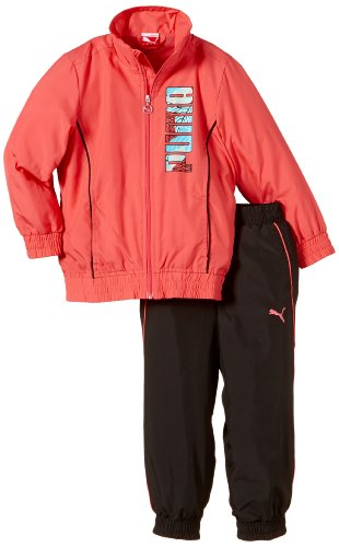 Puma graphic woven closed suit tenue 10 ans Rouge - Calypso Coral-Black