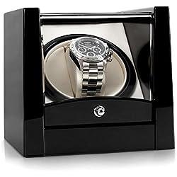 Klarstein 8PT1S • Uhrenbeweger • Uhrendreher • Uhrenbox • Kapazität: 1 x Automatikuhr • Links-Rechts-Lauf • vorprogrammierter Drehrhythmus • max. 2160 Umdrehungen pro Tag • Laufleise • Sichtfenster • elegantes Design • weißes Samtkissen • schwarz