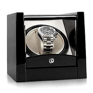 Klarstein 8GL1S • Uhrenbeweger • Uhrendreher • Uhrenbox • Kapazität: 1 x Automatikuhr • Links-Rechts-Lauf • vorprogrammierter Drehrhythmus • geeignet für Armbandlängen von 170-195 mm • schwarz