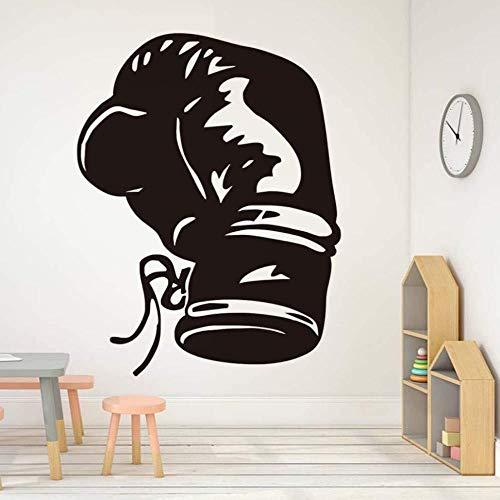 ljmljm Schwarz 58x76cm Boxhandschuhe kreative Turnhalle Dekoration Geschnitzte Wandaufkleber können angepasst Werden