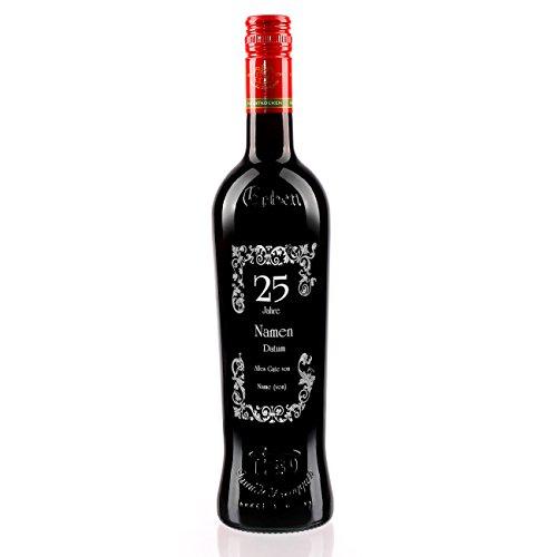 private Wine Erben Dornfelder halbtrocken (1 x 0.75 l) mit Gravur zur Silbernen Hochzeit