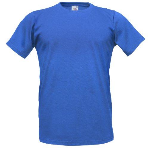 Fruit of the Loom Herren T-Shirt Blau - Königsblau
